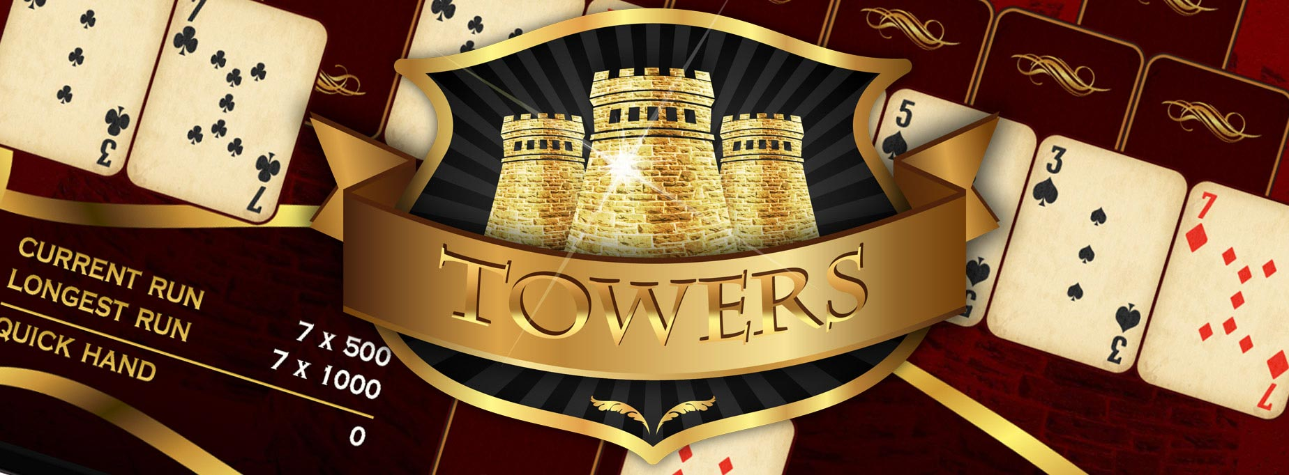 towers tripeaks pyramid solitaire game